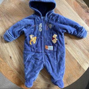Disney Winnie The Pooh Blue Onesie Hold Warm Winter Baby Unisex 0 3 M Tigger Zip